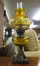 georgian & victorian oil lamps
